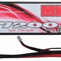 MKT Racing 7200 80c 2s Lipo Black Line Lipo x 2