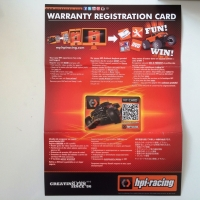 Warranty and registration card