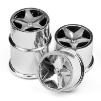 super star wheel set chrome